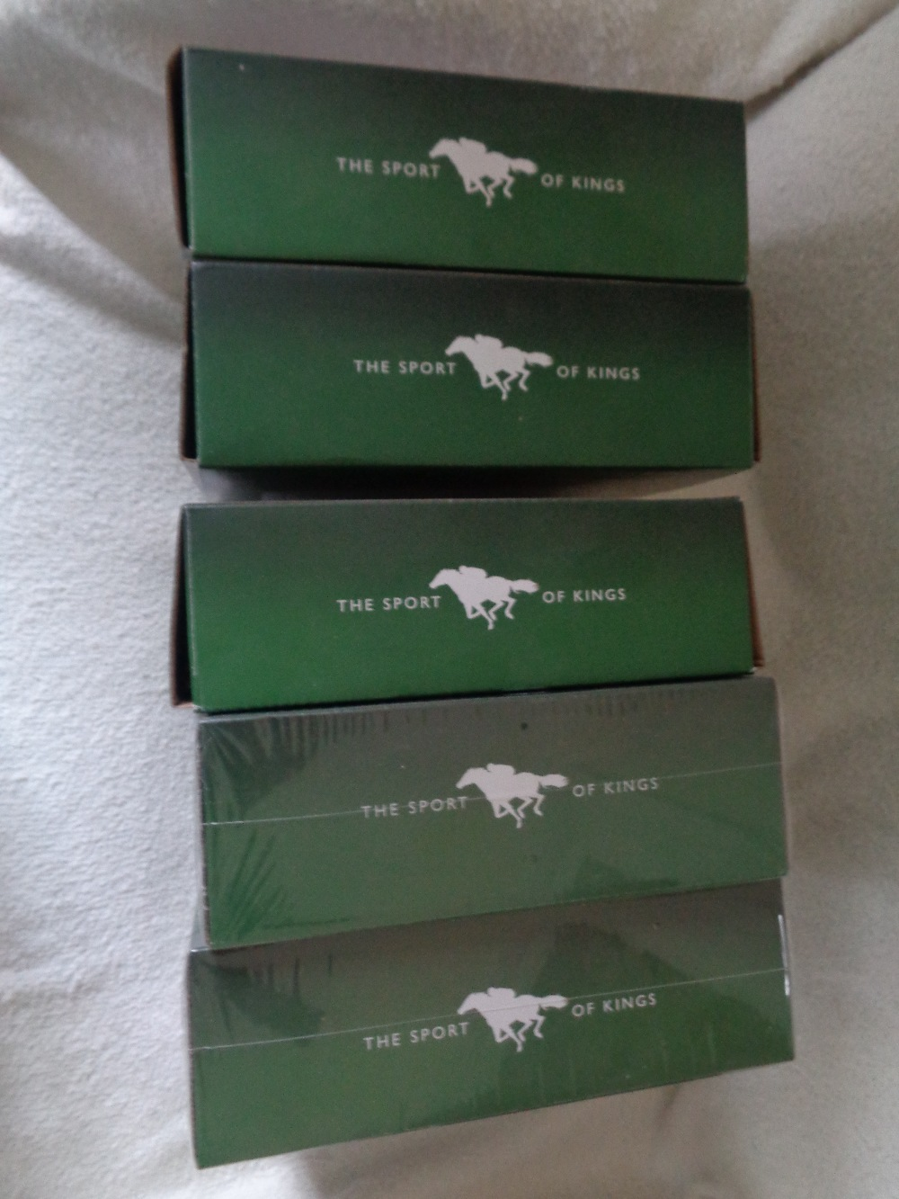 """Lot 3 - KING OF SPORTS STATUES BRONZE RESIN MILL REEF, DESERT ORCHID, SHERGAR, RED RUM, KAUTO* ALL BOXED 7"""""""