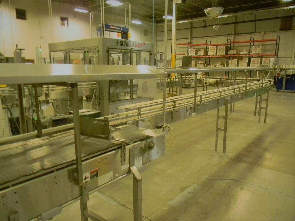 Lot 14 - Single File Conveyor, All S/S, 5' Straight, to 90° (L) Turn, To 6' Straight, To 90° (L) Turn