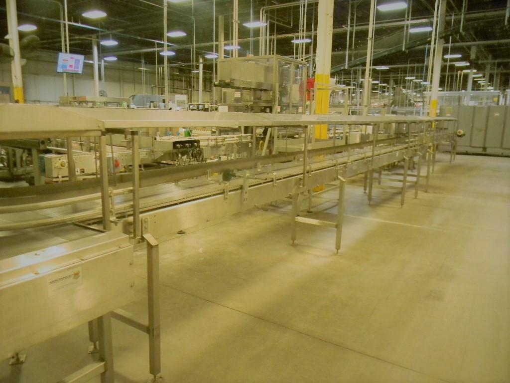 "Lot 20 - Accumulation Conveyor, All S/S, 18"" W Intralox Chain (Subject to Bulk Bid in Lot 22)"