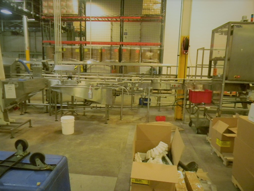 Lot 16 - Single File Conveyor, All S/S, U Shaped turn (R) through Bevco Wet Wash Tunnel