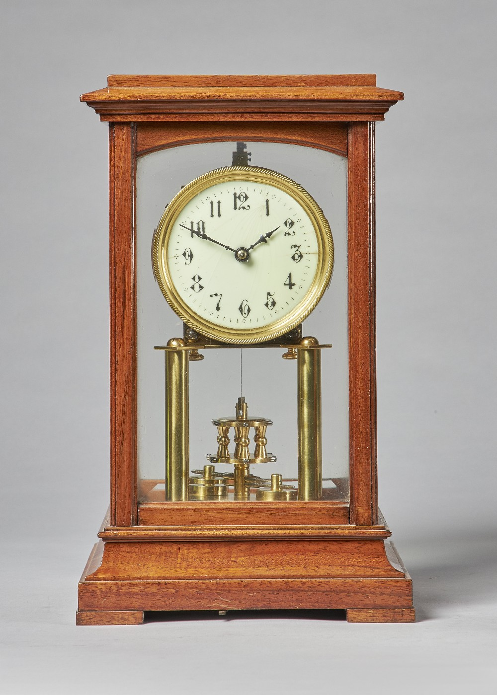 Lot 709 - A mahogany cased torsion timepiece By Gustav Becker, Freiburg,