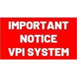 Sale Process for VPI System and fluids has changed - See lots 1365 thru 1369A