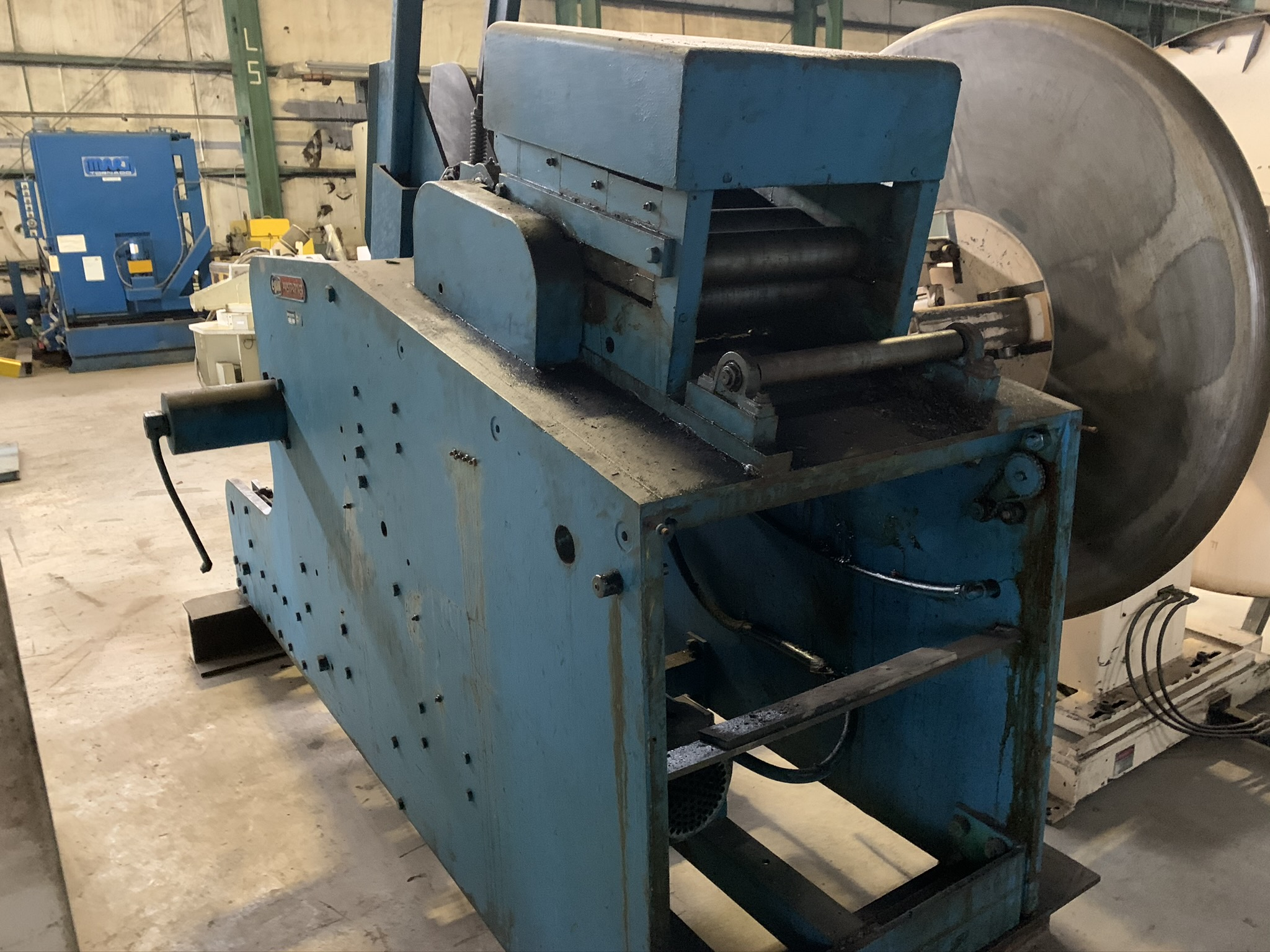 "8"" EGAN MODEL X-30-615-1000 CRADLE STRAIGHTENER; S/N 3432, MATERIAL THICKNESS .135 X 12"" / .156 X - Image 2 of 8"