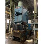 """250 TON NIAGARA MODEL E250 GAP FRAME PRESS; S/N 51238, 58"""" LEFT TO RIGHT X 34"""" FRONT TO BACK BED,"""