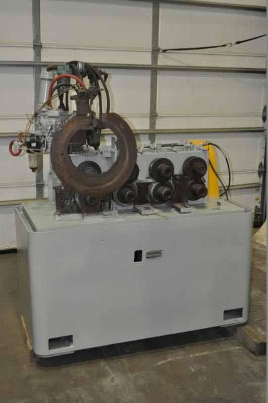 "DEXTER 4-STAND RING ROLLING ROLL FORMER; S/N R-3111, 2.125"" DIA. SHAFTS, 5"" ROLL SPACE, 9"""