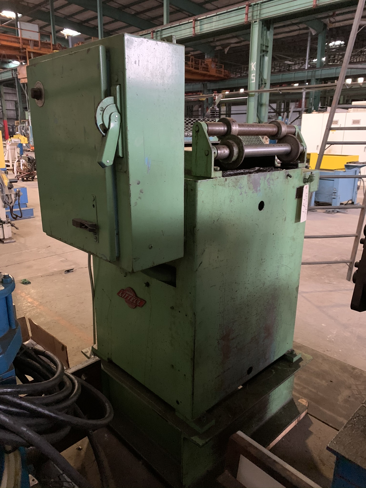 """18"""" LITTELL MODEL 318 CONTINUOUS STRAIGHTENING FEEDER; S/N 85469-2, CAPACITY 18"""" WIDTH, MATERIAL - Image 4 of 9"""