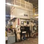 "330 TON AIDA MODEL PMX-L2-300(1) STRAIGHT SIDE DOUBLE CRANK PRESS; S/N 12903-0665, 5.90"" STROKE,"