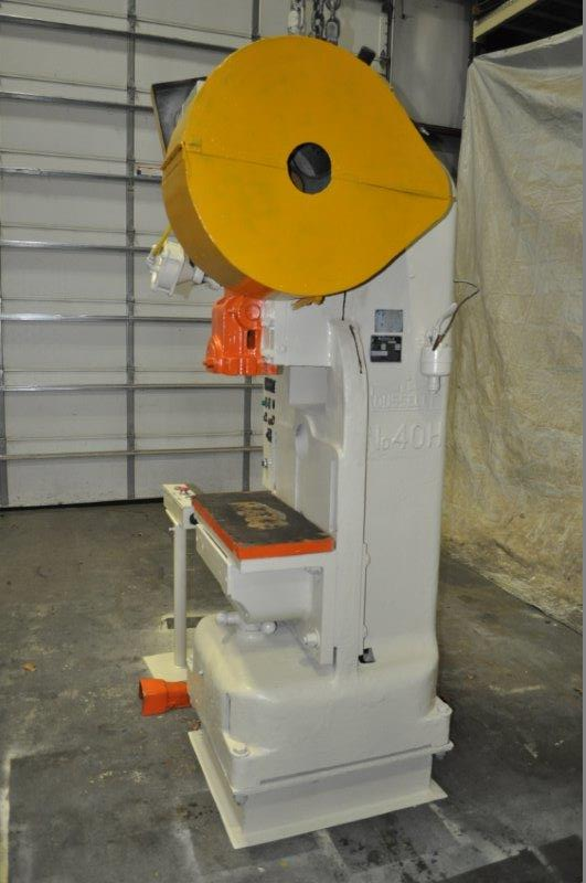 """40 TON ROUSELLE MODEL 40H HORN PRESS; S/N 22039, 6"""" STROKE, 26"""" LRX, 12"""" FRONT TO BACK BEND AREA, 45 - Image 3 of 7"""