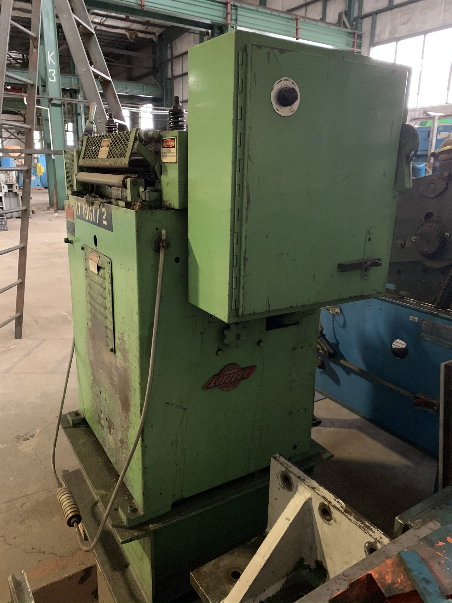 """18"""" LITTELL MODEL 318 CONTINUOUS STRAIGHTENING FEEDER; S/N 85469-2, CAPACITY 18"""" WIDTH, MATERIAL - Image 3 of 9"""