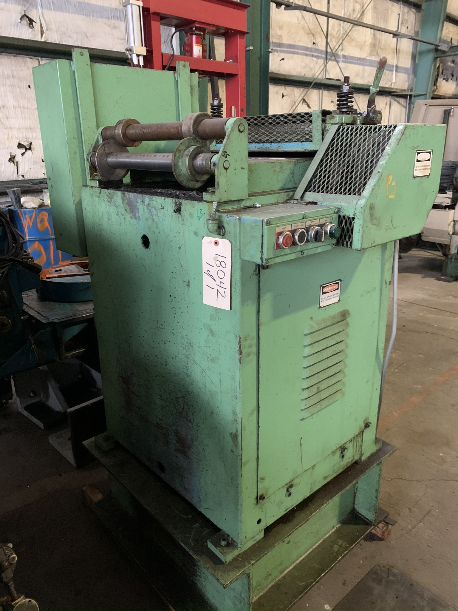 """18"""" LITTELL MODEL 318 CONTINUOUS STRAIGHTENING FEEDER; S/N 85469-2, CAPACITY 18"""" WIDTH, MATERIAL - Image 2 of 9"""