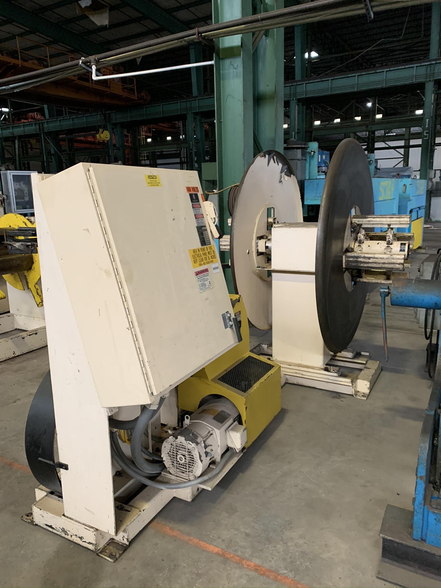 "6"" X 3,000 LB. MINSTER POWERED STRAIGHTENER / UNCOILER COMBINATION; S/N 13-11111, COMMON BASE, - Image 2 of 11"