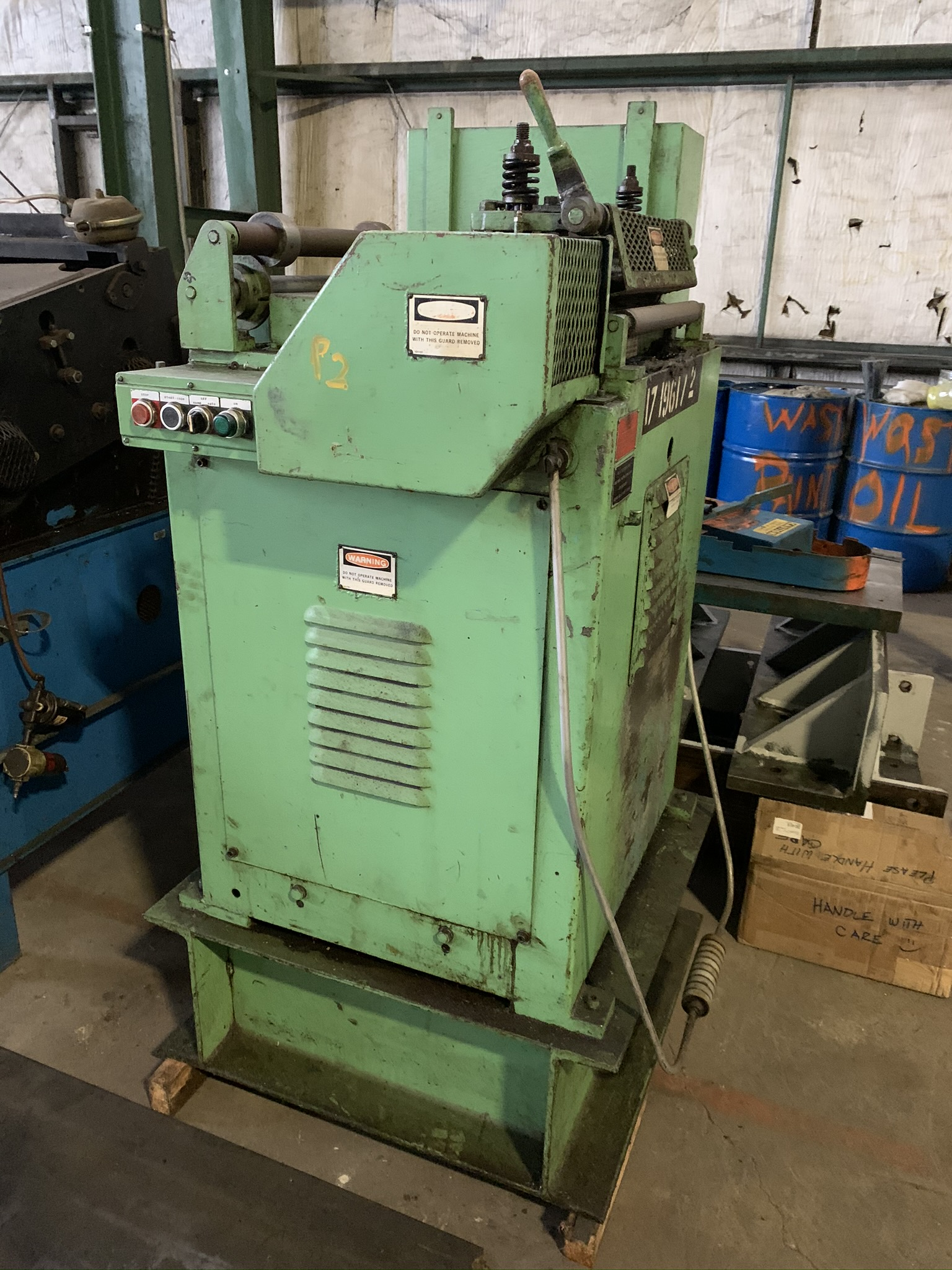 """18"""" LITTELL MODEL 318 CONTINUOUS STRAIGHTENING FEEDER; S/N 85469-2, CAPACITY 18"""" WIDTH, MATERIAL"""