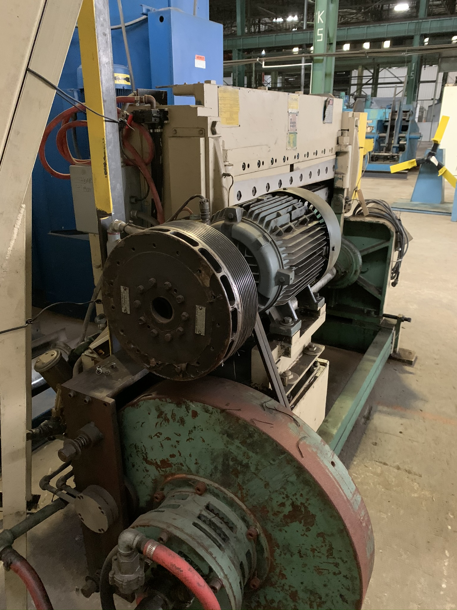 """WYSONG MODEL 1052 RKB LINE SHEAR; S/N P97-100, 52"""" WIDTH, AIR CLUTCH, BOW TIE BLADE, 15 HP 230/460 - Image 3 of 5"""