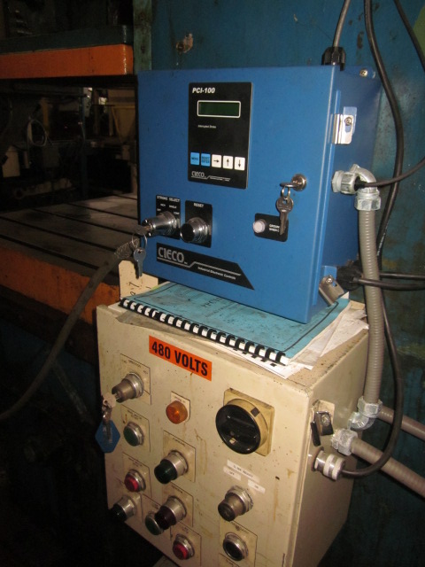 "150 TON NIAGARA E-150 OBS SINGLE POINT GAP FRAME PRESS; S/N 50978, BED SIZE 50"" X 30"", RAM SLIDE - Image 10 of 11"