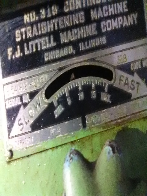 """18"""" LITTELL MODEL 318 CONTINUOUS STRAIGHTENING FEEDER; S/N 85469-2, CAPACITY 18"""" WIDTH, MATERIAL - Image 6 of 9"""