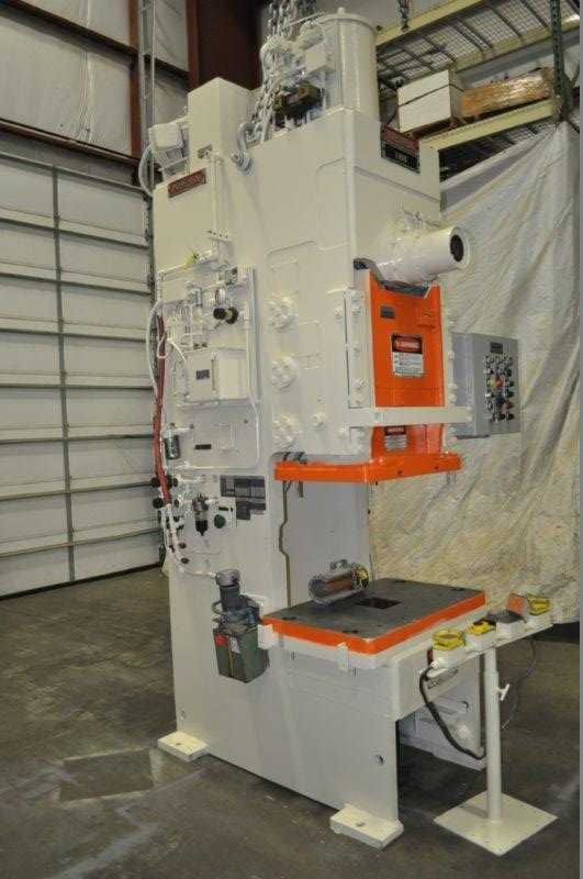 """90 TON NIAGARA MODEL E90 OBI BACK GEARED PRESS; S/N 52482, 39"""" LEFT TO RIGHT X 25"""" FRONT TO BACK - Image 3 of 9"""