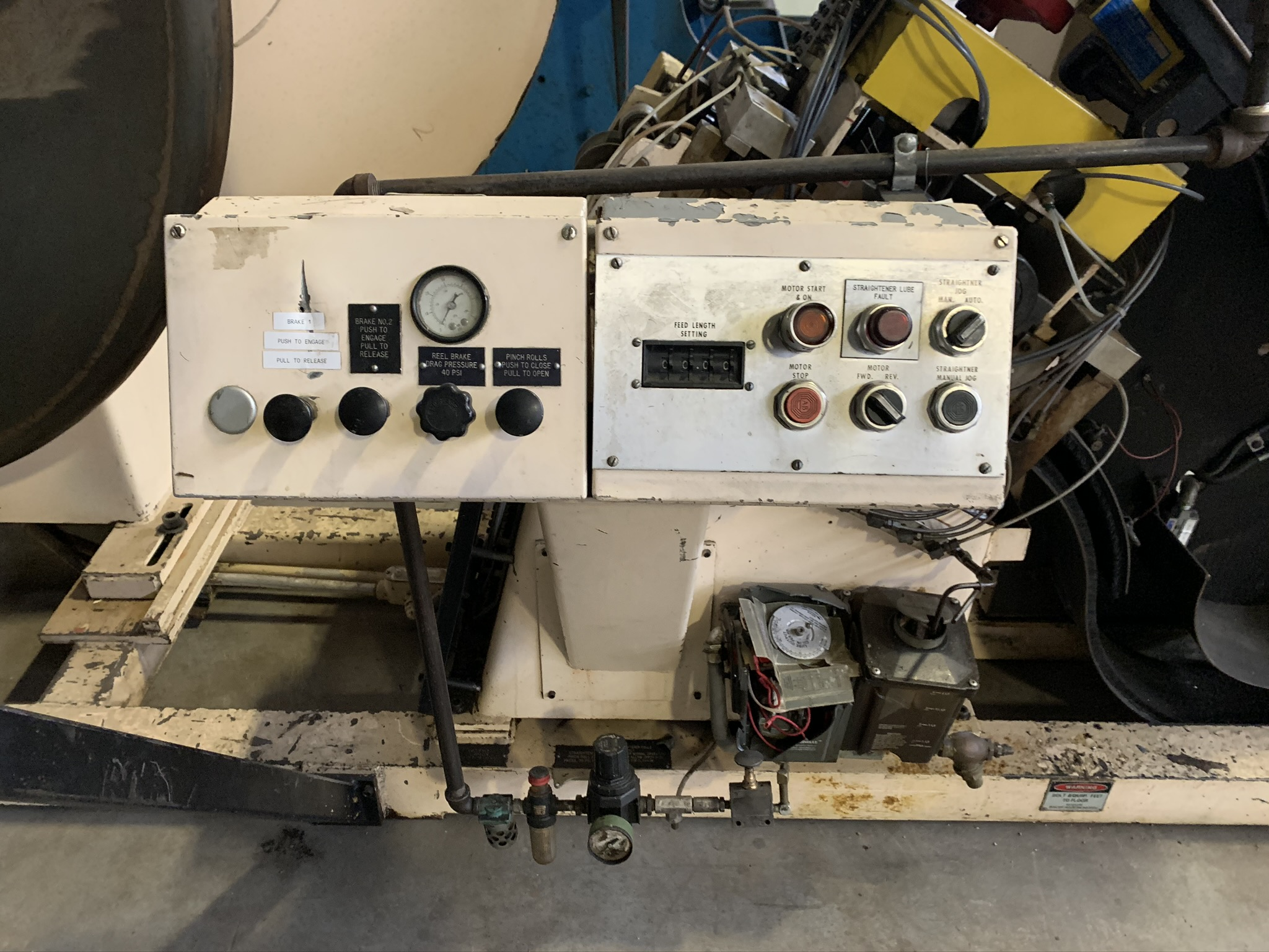 "6"" X 3,000 LB. MINSTER POWERED STRAIGHTENER / UNCOILER COMBINATION; S/N 13-11111, COMMON BASE, - Image 3 of 11"