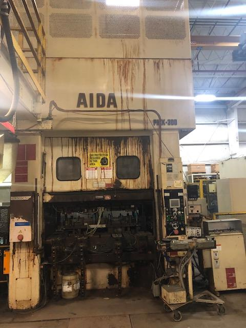 "330 TON AIDA MODEL PMX-L2-300(1) STRAIGHT SIDE DOUBLE CRANK PRESS; S/N 12903-0696, 5.90"" STROKE, - Image 8 of 10"