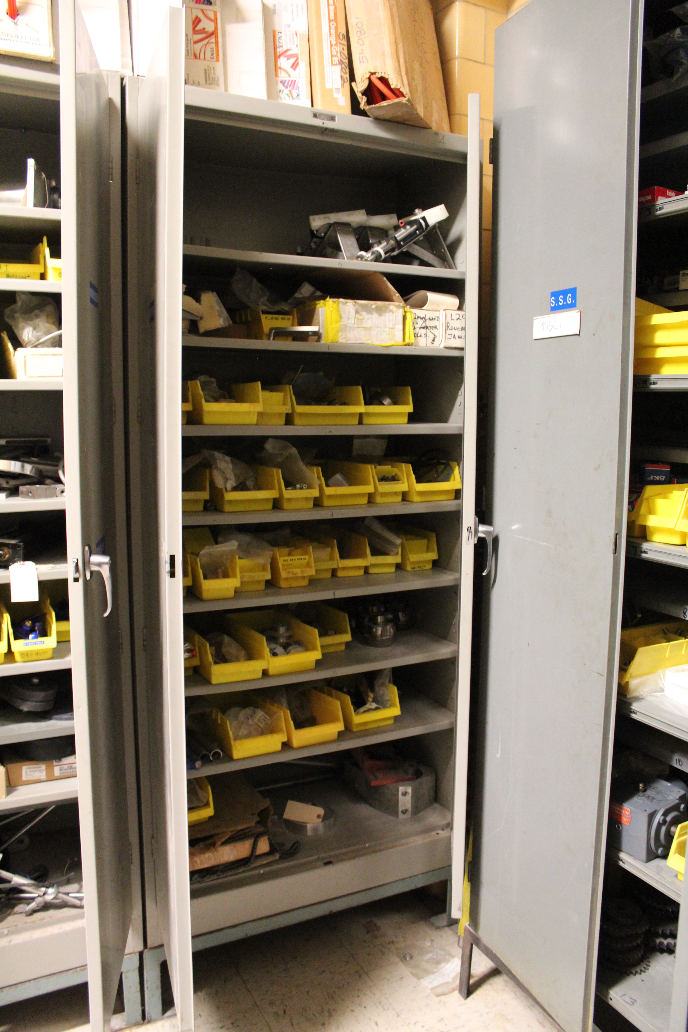 Contents of filling equipment spare parts storage room for Parts room organization