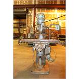 """Index Vertical Mill. Table 46.5"""" x9"""" Serial# 14596. model# 745"""