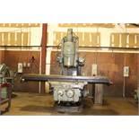 "Cincinnati #5 Vertical Mill, Table 25"" X 108"", 1500 RPM, 50 taper, Power draw bar"