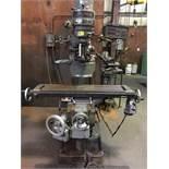 """Super Max Vertical Mill, Mdl TCM 1-1/2 VA, 42"""" x 9"""" w/ DRO, 1983"""