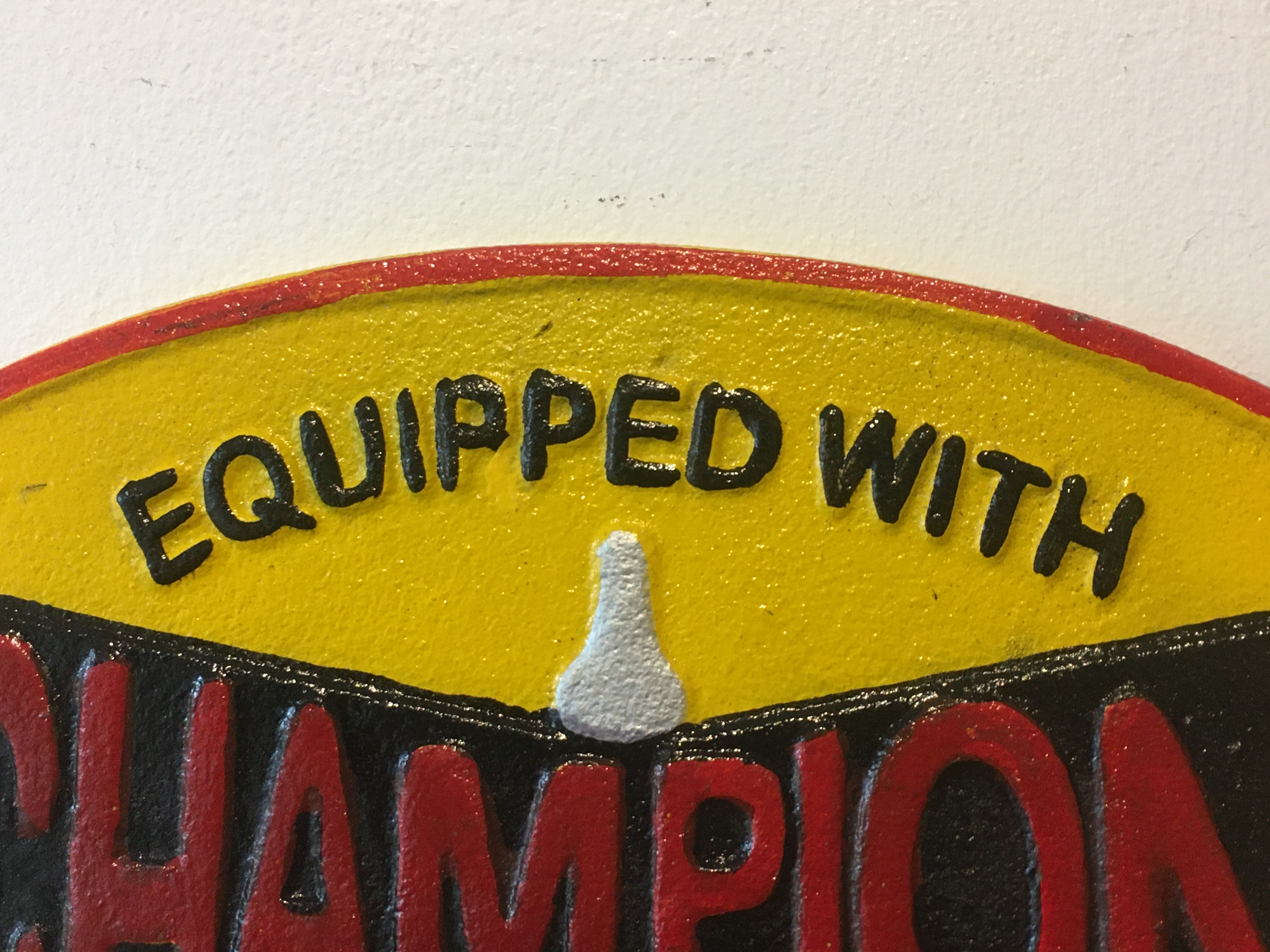 Champion 'Spark Plugs' Cast Iron Sign - Image 2 of 6