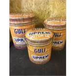 Set Of 3 Gulf Metal Stools With Storage