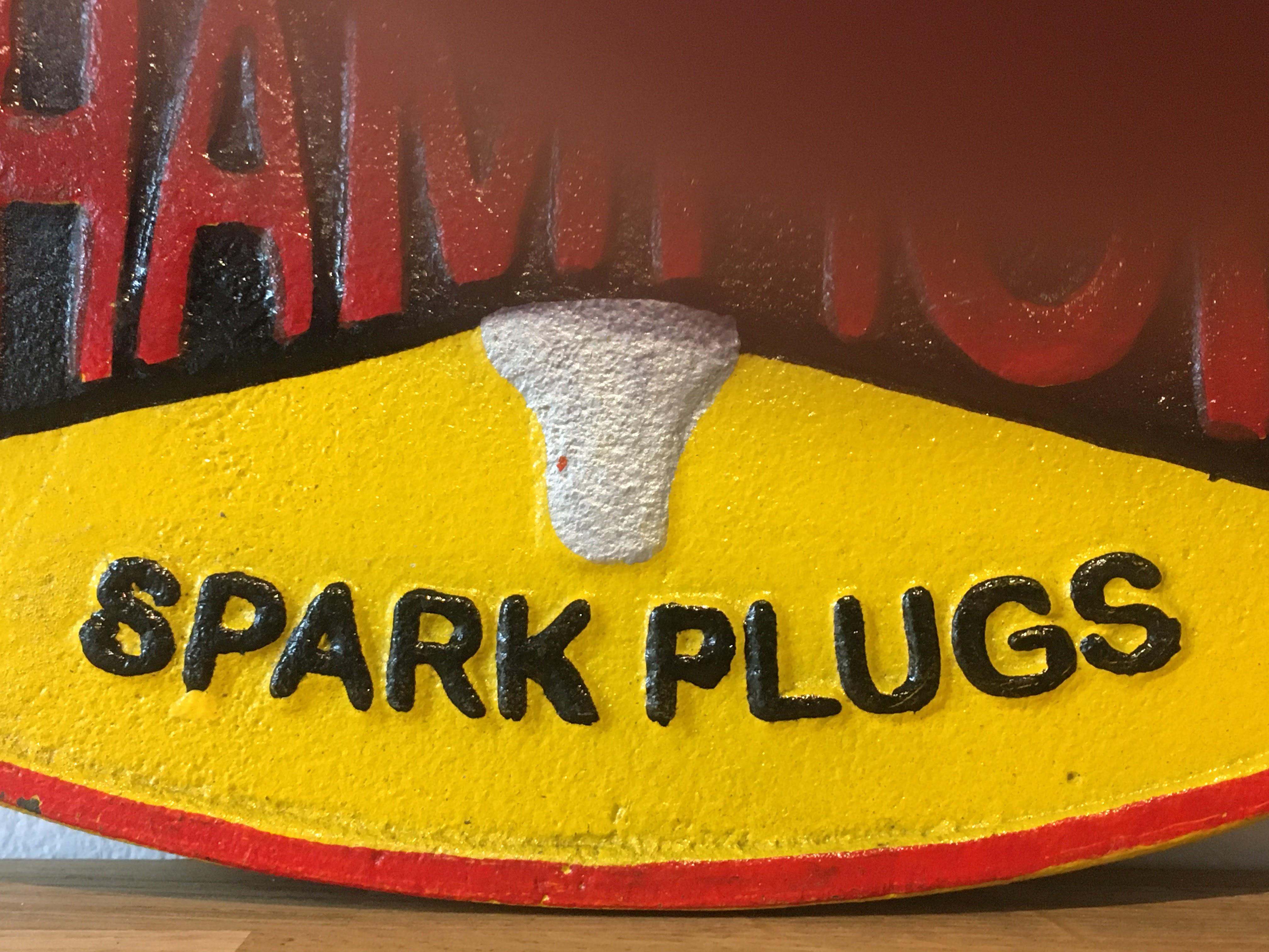 Champion 'Spark Plugs' Cast Iron Sign - Image 3 of 6