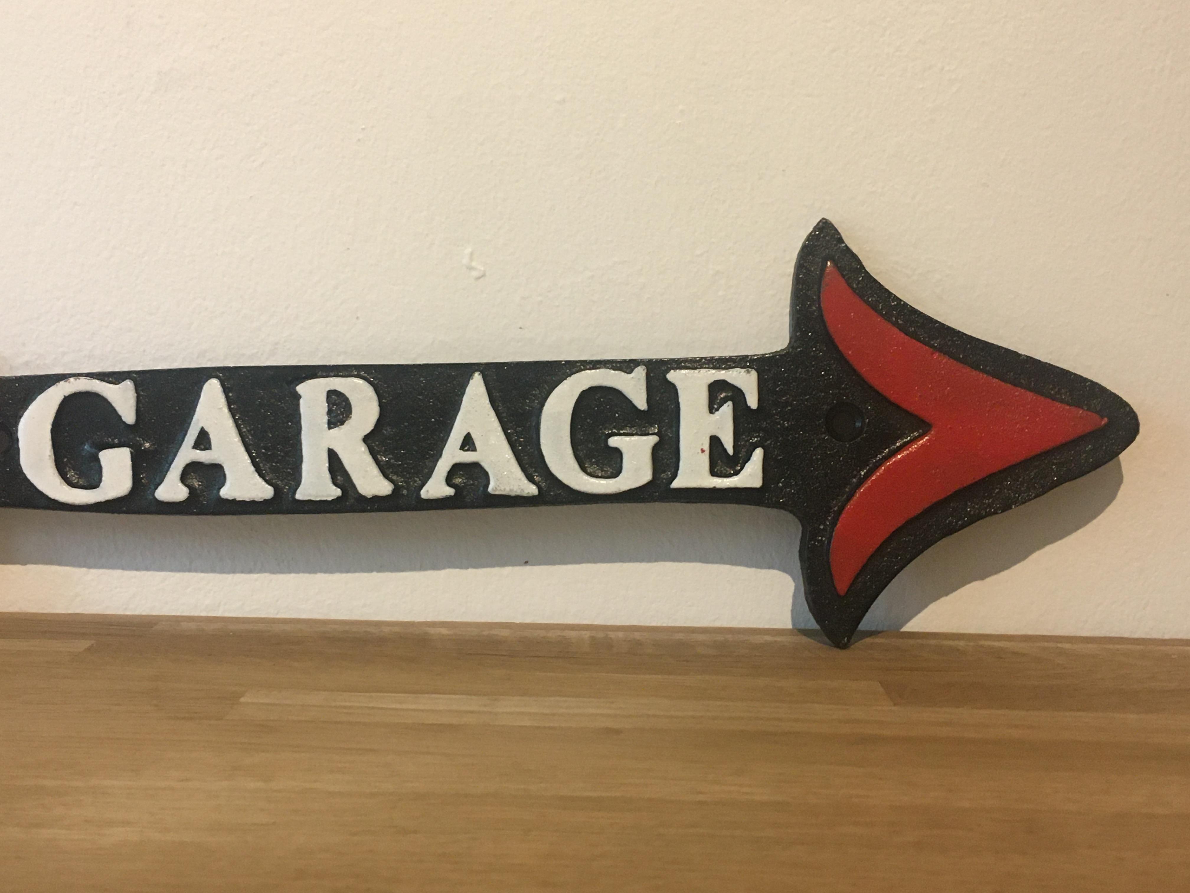 Harley Davidson Motorcycles Cast Iron Garage Arrow Sign - Image 4 of 4
