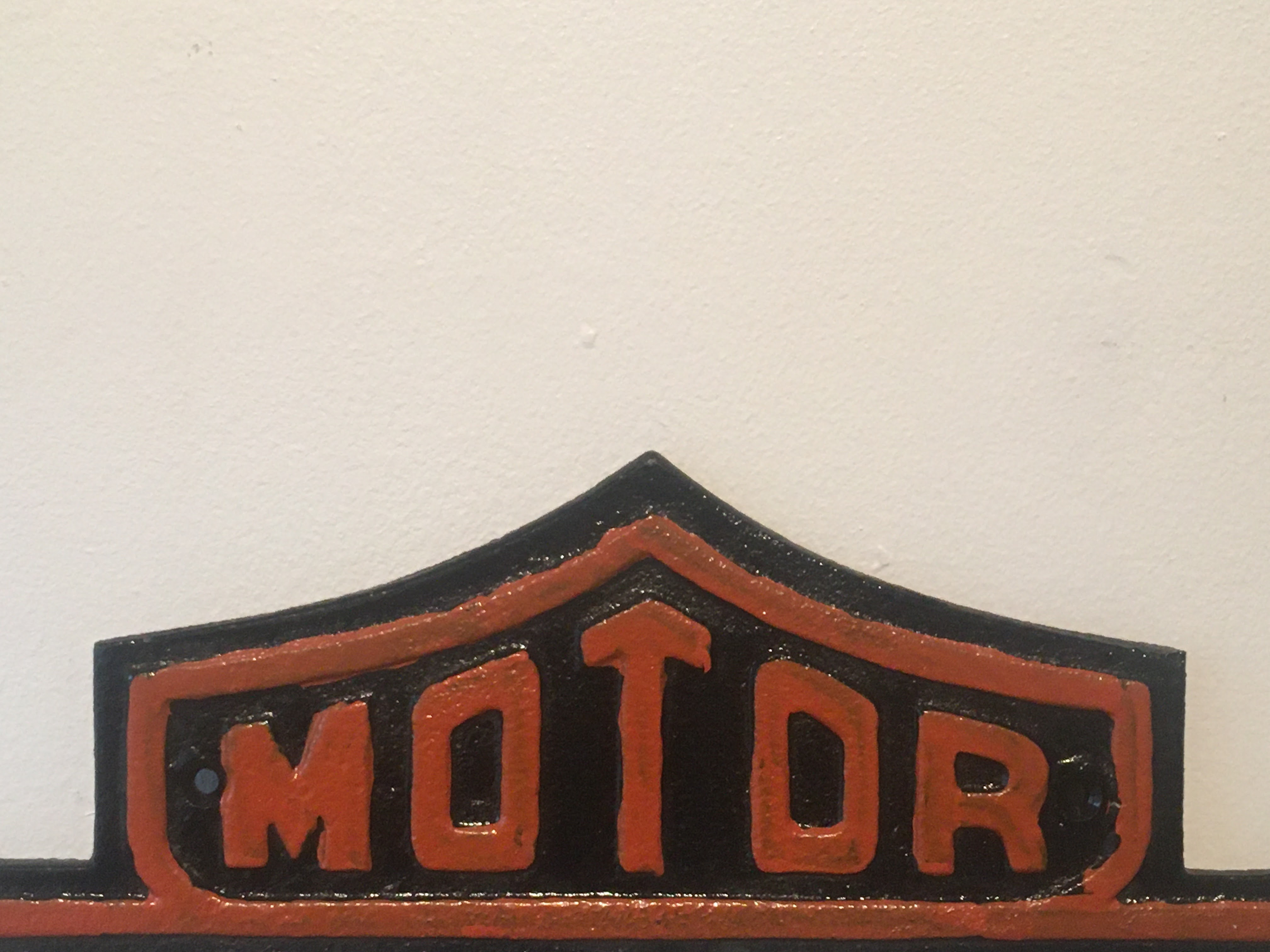 Harley Davidson Motorcycles Cast Iron Sign - Image 2 of 3