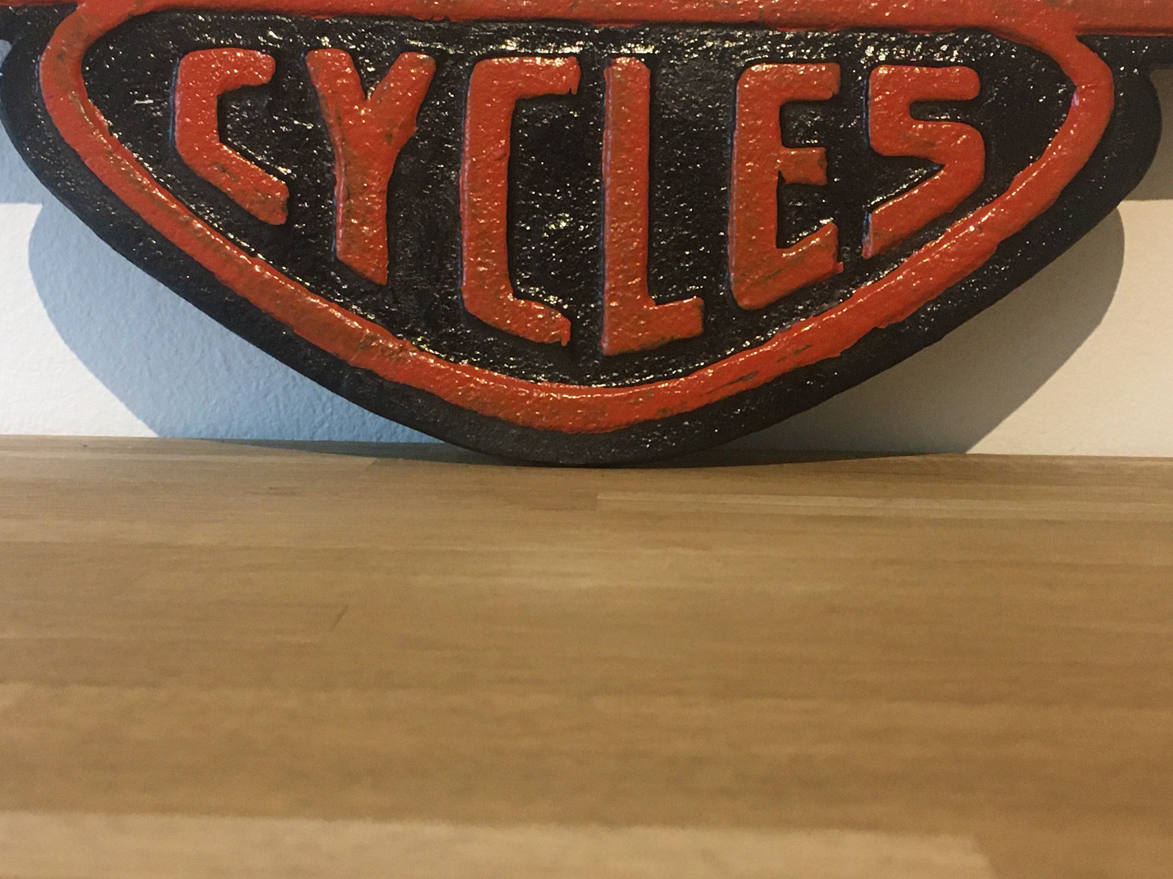 Harley Davidson Motorcycles Cast Iron Sign - Image 3 of 3