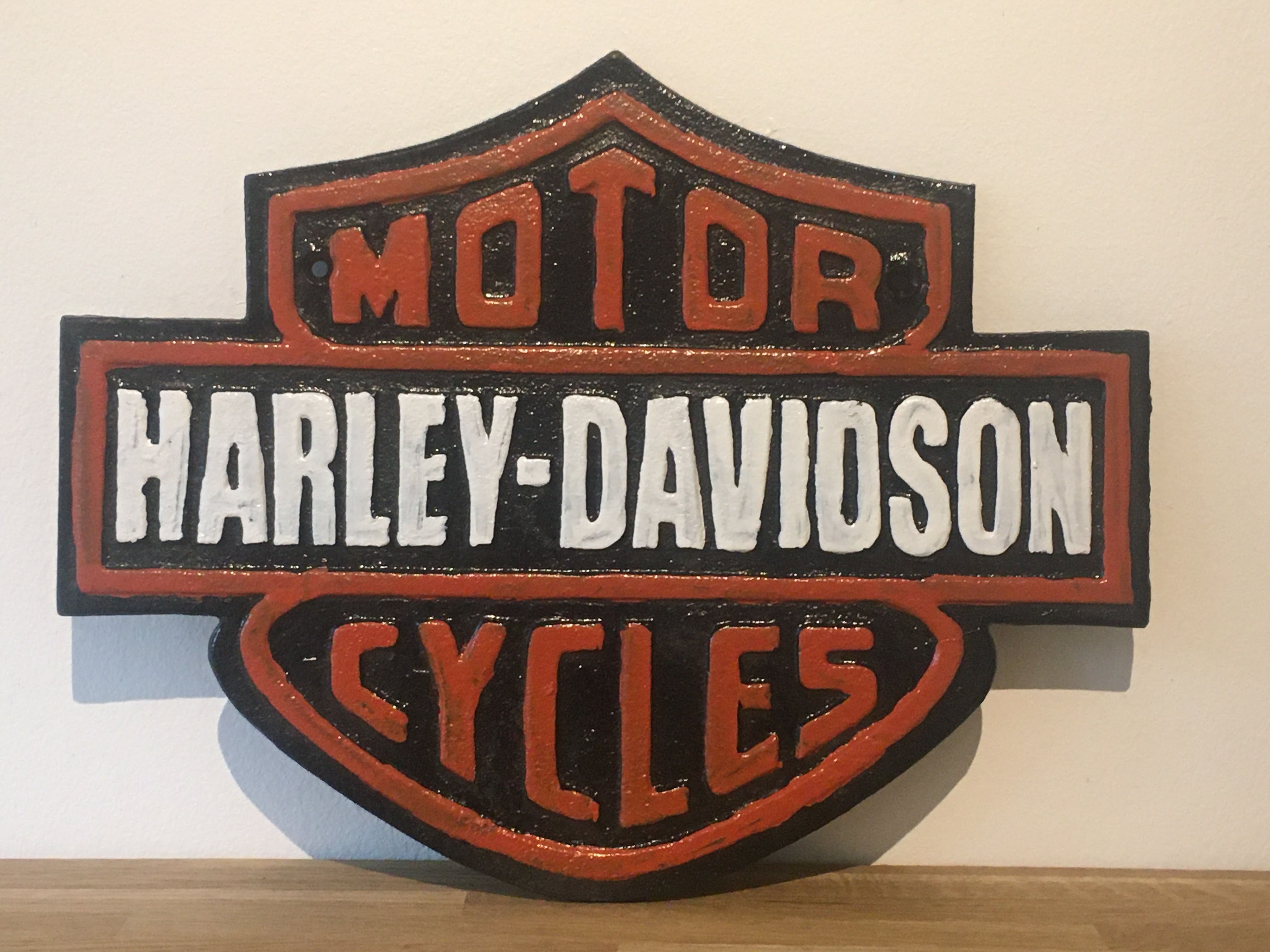 Harley Davidson Motorcycles Cast Iron Sign