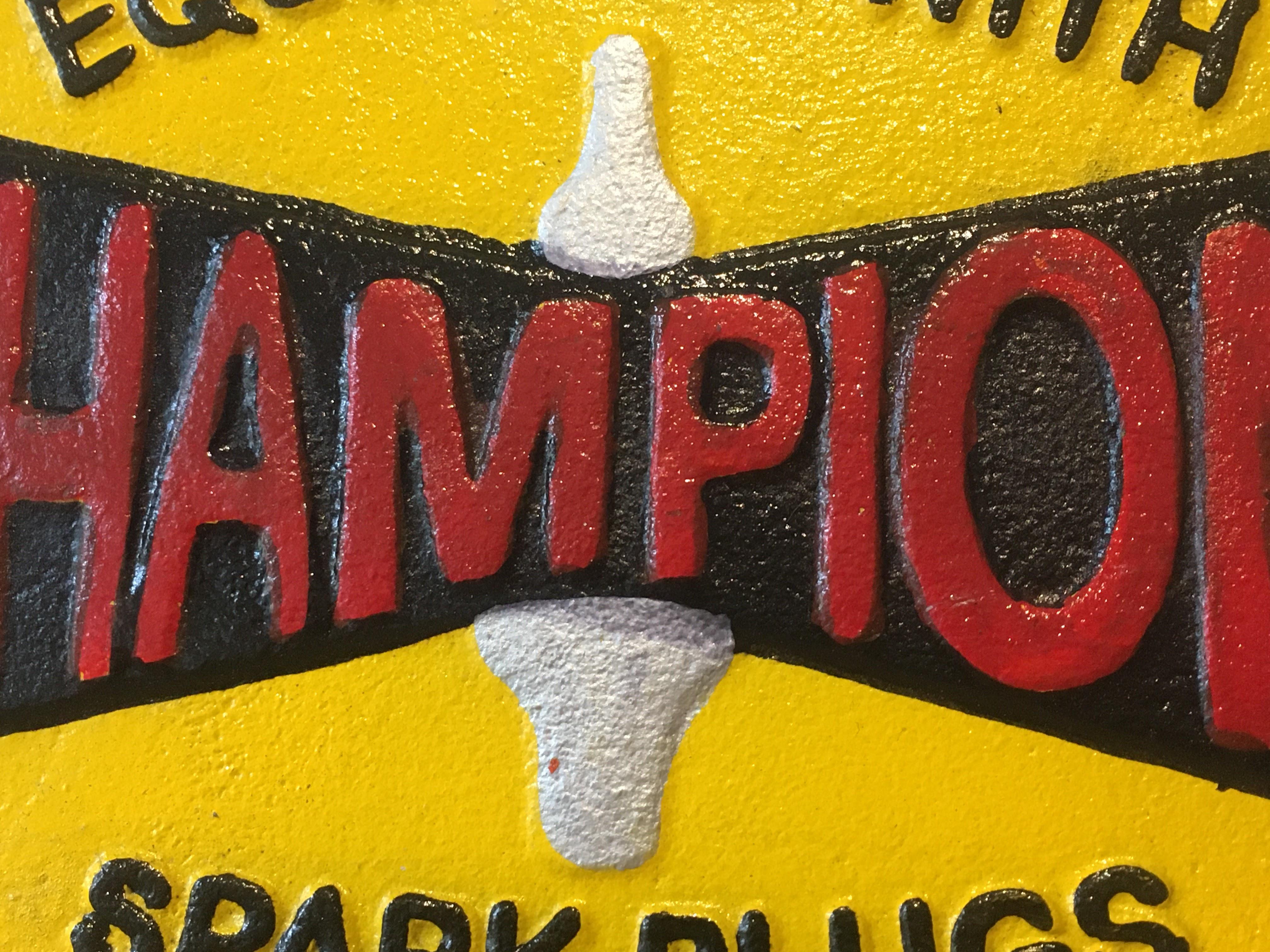 Champion 'Spark Plugs' Cast Iron Sign - Image 5 of 6