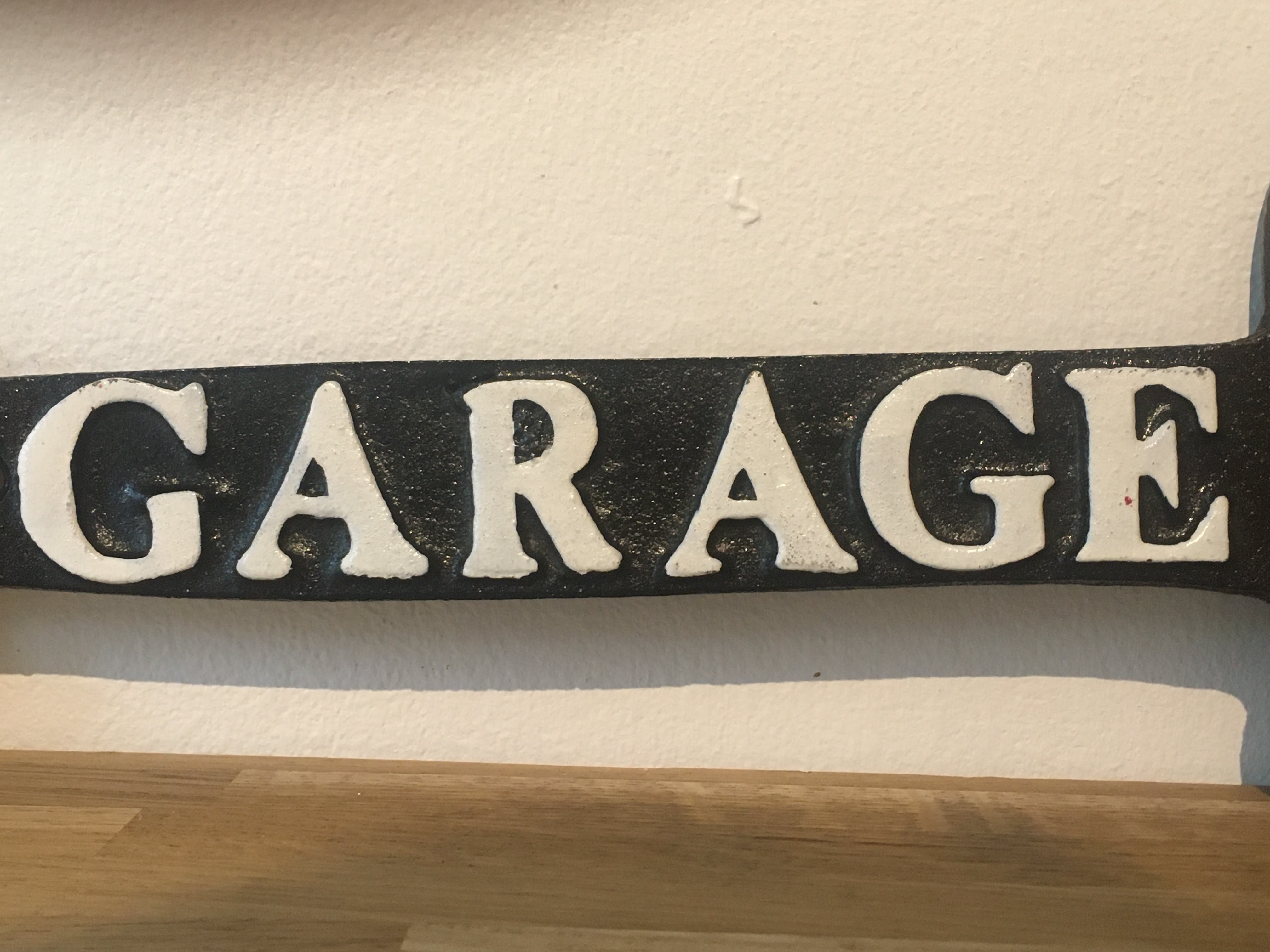 Harley Davidson Motorcycles Cast Iron Garage Arrow Sign - Image 3 of 4