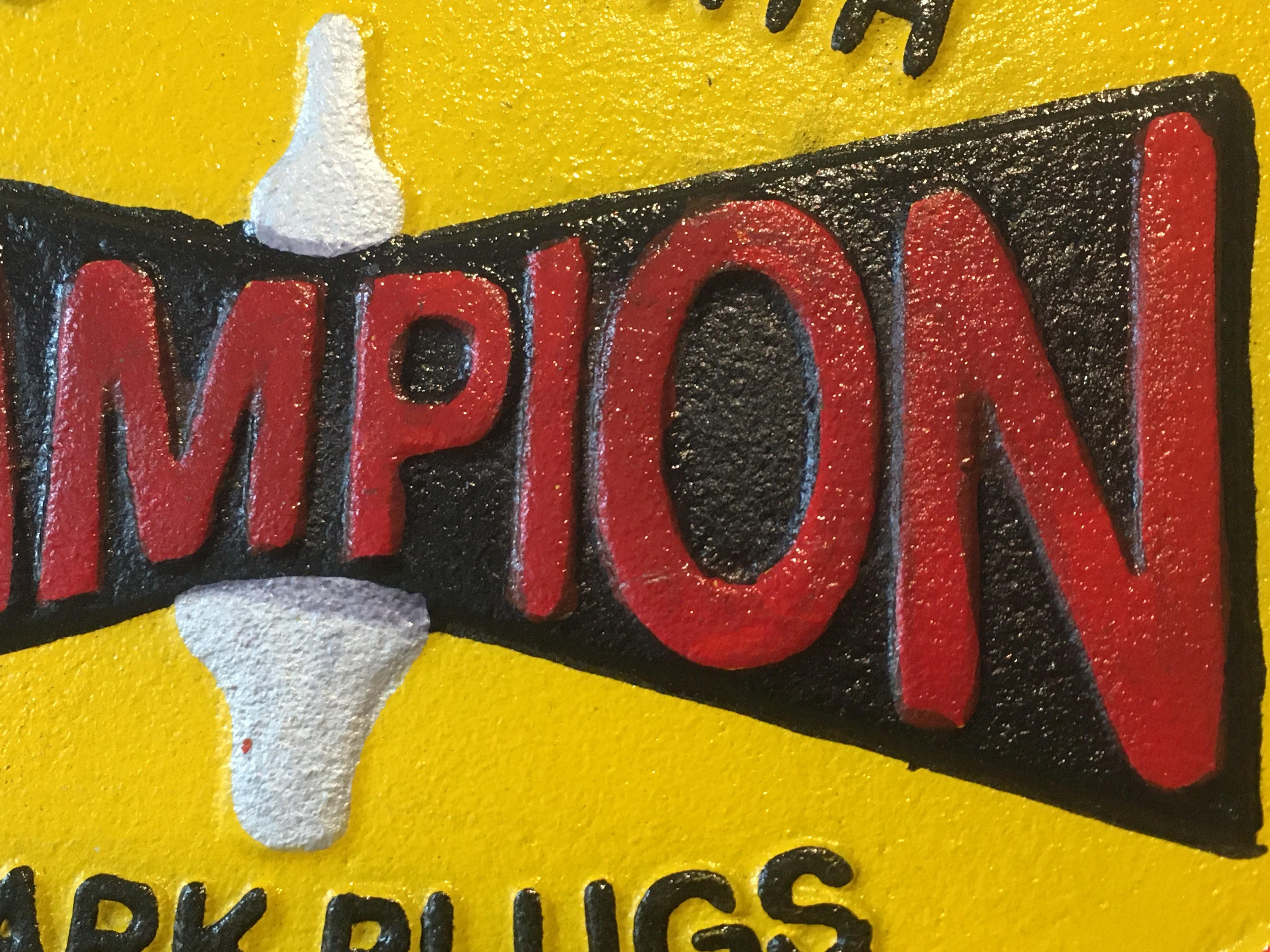 Champion 'Spark Plugs' Cast Iron Sign - Image 6 of 6