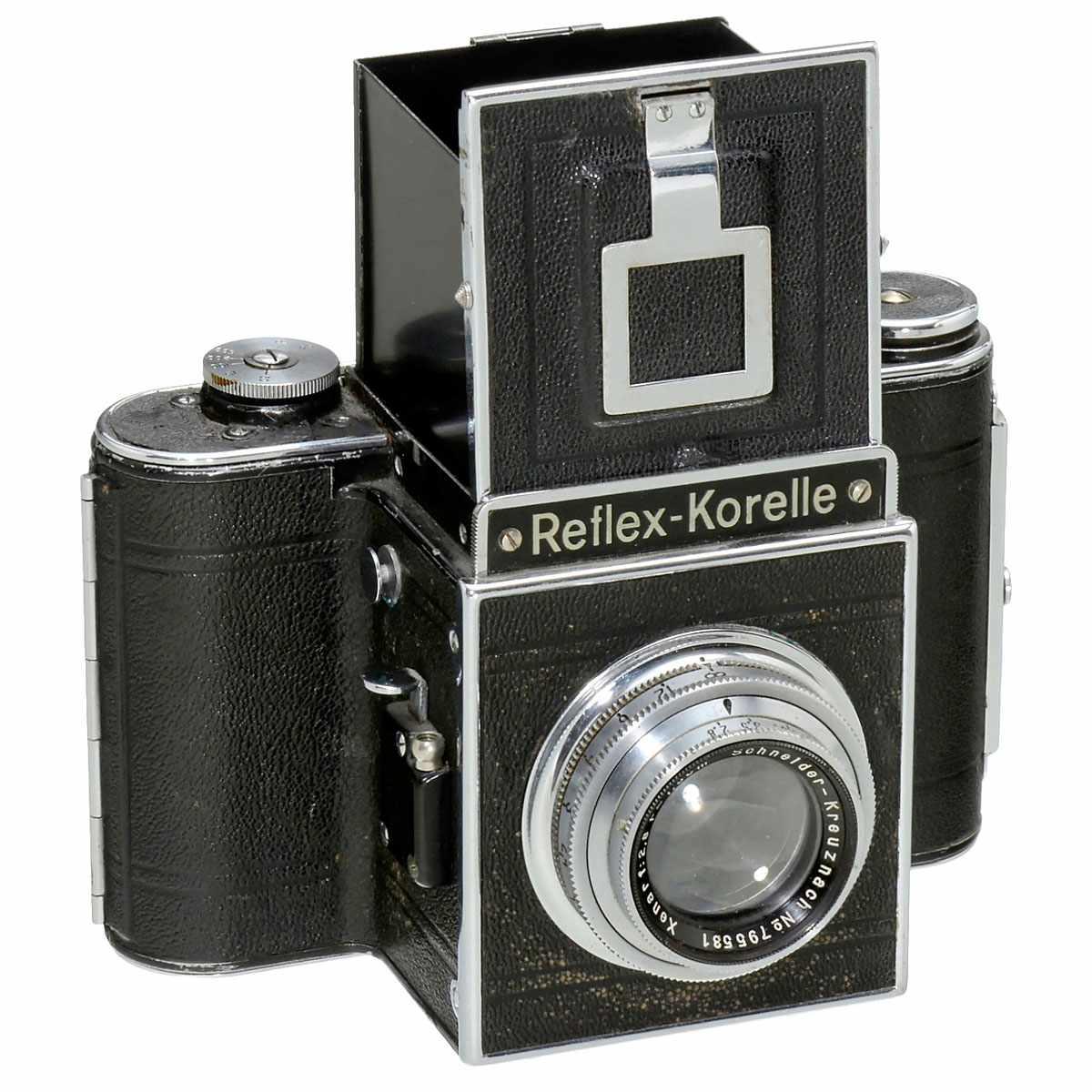 K.W. Reflex-Box and Reflex-Korelle 1) Kamera-Werkstätten, Dresden. Reflex-Box, SLR camera, for 8 - Bild 2 aus 3