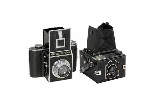 K.W. Reflex-Box and Reflex-Korelle 1) Kamera-Werkstätten, Dresden...