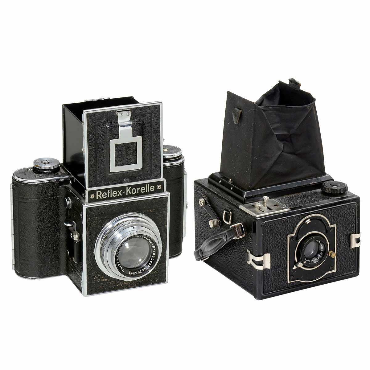 K.W. Reflex-Box and Reflex-Korelle 1) Kamera-Werkstätten, Dresden. Reflex-Box, SLR camera, for 8