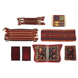 Lot 329 - Collection of Middle Eastern saddle cloths, the largest 130cm wide : For Further Condition Reports