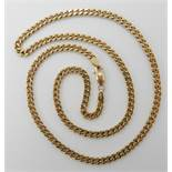 A 9ct curb link necklace 46cm, weight 14.7gms Condition Report: Available upon request
