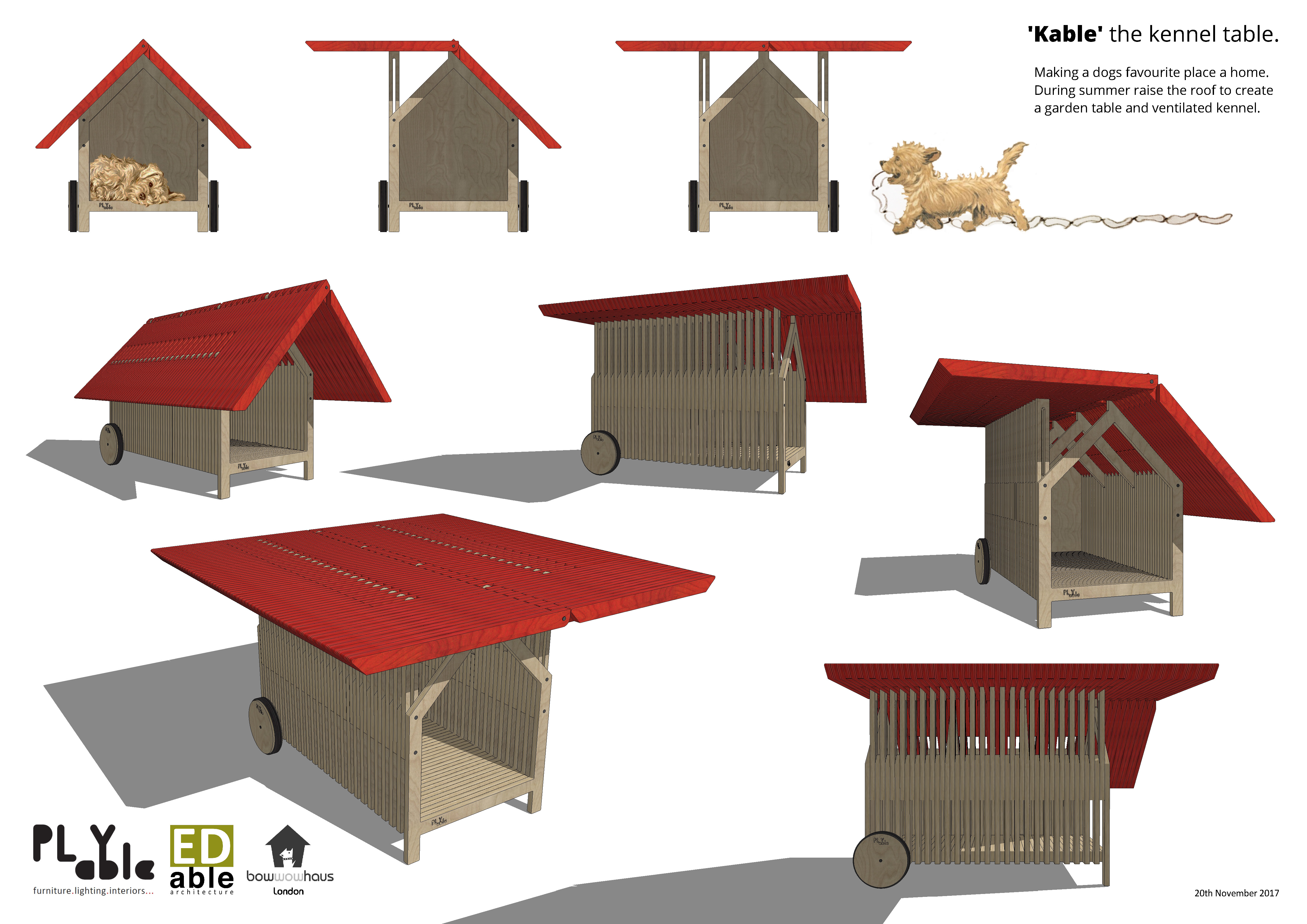 Lot 12 - PLYable Design and EDable Architecture - Kable the Kennel Table