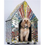 Sue Penrose Mosaics - Rainbow Disco Dog Kennel