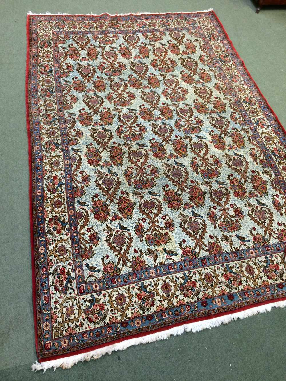 Lot 701 - Fine Qum Persian carpet circa 1930 3.33 X 2.24m