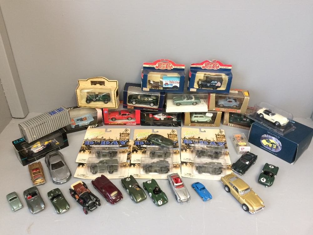 Lot 14 - General Clearance Lots: Qty of die-cast models of Aston Martins by a selection of makers & mixed