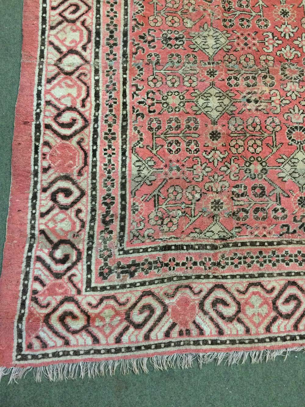 Lot 710 - Antique Samarkand carpet East Turkestan circa 1900 2.82 X 2.48m