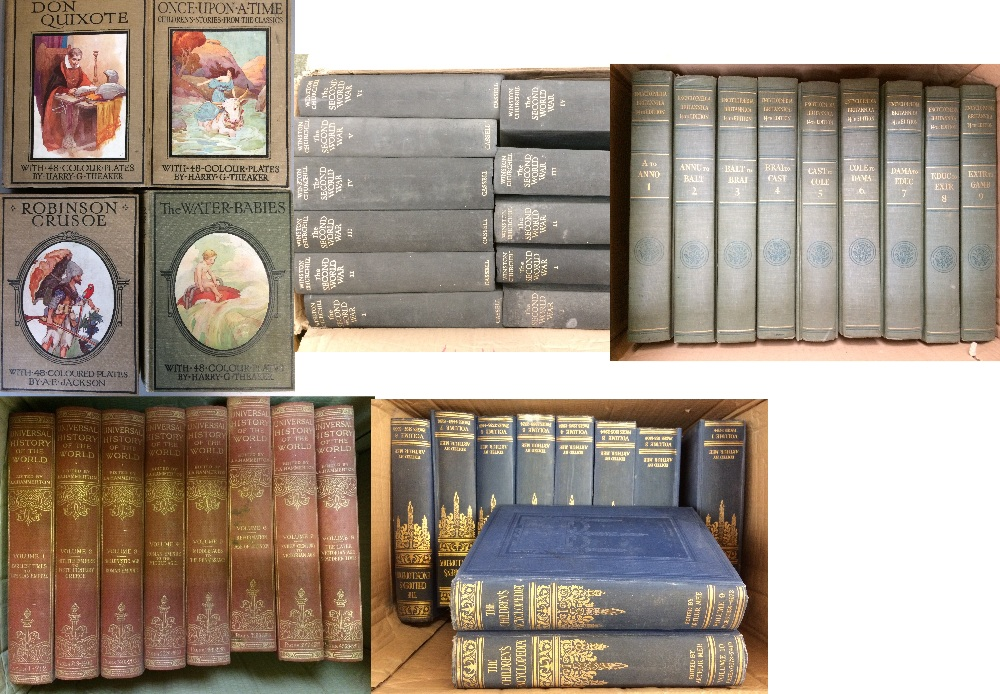 Lot 15 - General Clearance Lots: Encyclopedias illustrated full set 24 volumes 1929 editions, illustrated set