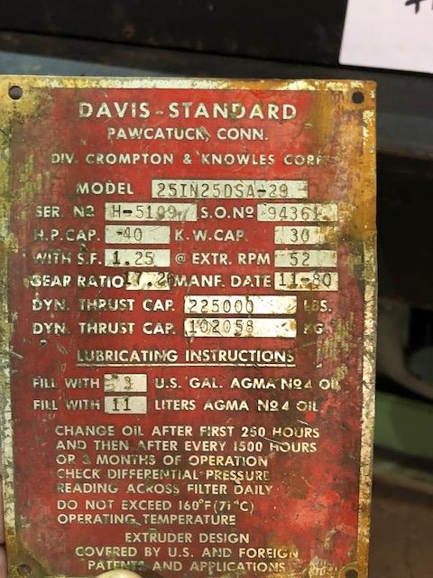 """Lot 109 - Davis Standard 2.5"""" - 30:1 L/D"""