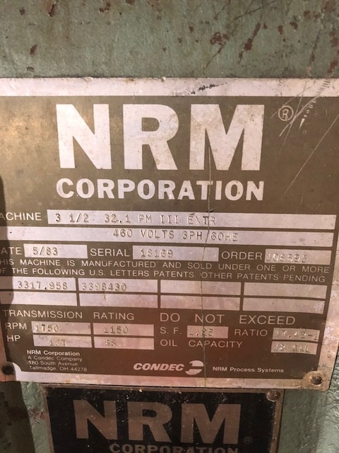 "Lot 106 - NRM 3.5"" - 32:1 PM III Extruder"