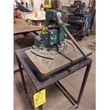 Tennsmith 6 In. X 6 In. X 16 Gauge Notcher, s/n 15316, with Metal Stand